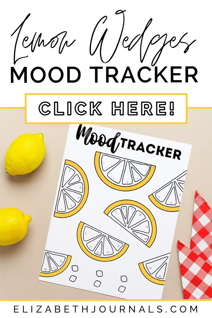 pinterest image-lemon wedges mood tracker-click here-preview of printable on paper